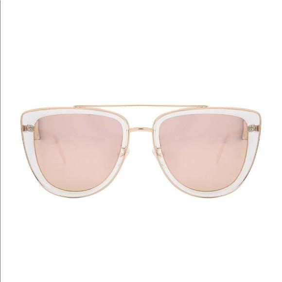 6de65db9cce8f Quay Australia French Kiss Rose Gold Sunglasses. M 5b7ad6b981bbc85d915444ee